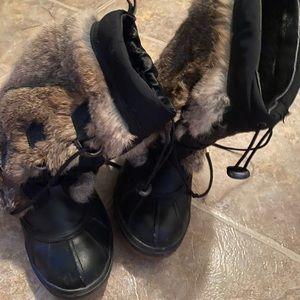 Rudsak black boots, fur